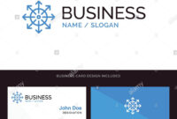 Ads, Advertising, Media, News, Platform Blue Business Logo intended for Advertising Card Template