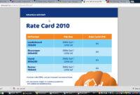 Advertisers | Digital Marketing Blog On Measurement regarding Advertising Rate Card Template