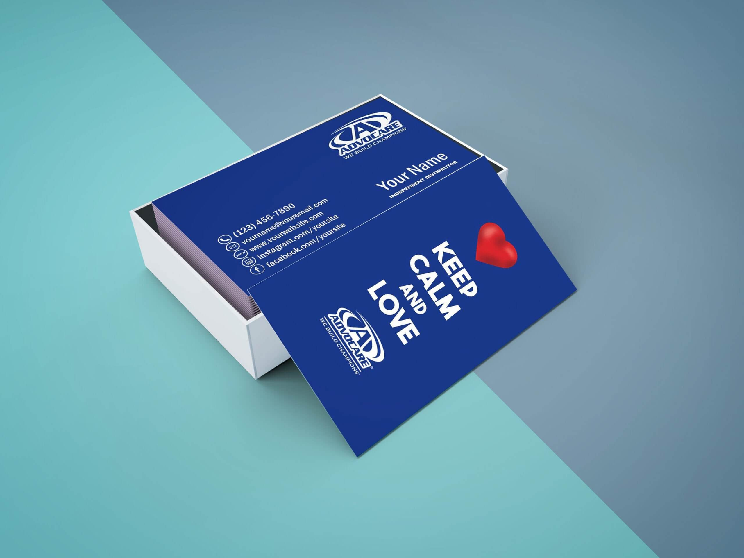 Advocare Business Card – Digital File Or Printed – Free Shipping Intended For Advocare Business Card Template