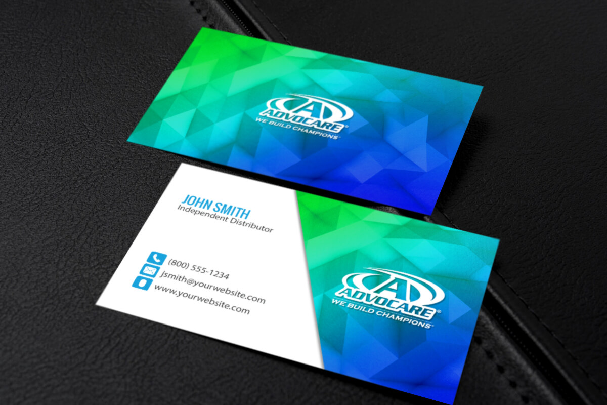 Advocare Distributors Can Customize And Print New Business Within Advocare Business Card Template