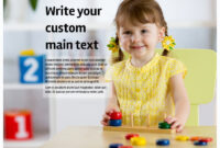 Affordable Daycare Flyer Template with Daycare Brochure Template