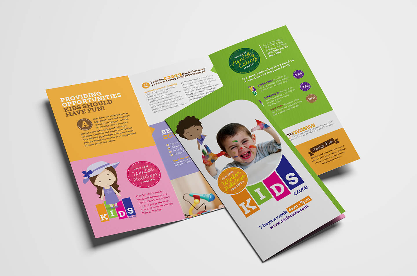 After School Care Tri Fold Brochure Template In Psd, Ai Intended For Tri Fold School Brochure Template