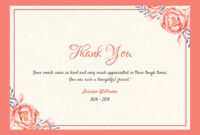 After The Funeral – Thank You Notes – Quincy, Il Funeral with Sympathy Thank You Card Template
