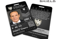 Agents Of Shield Inspired 'real' Shield Agent Id – Phil for Shield Id Card Template