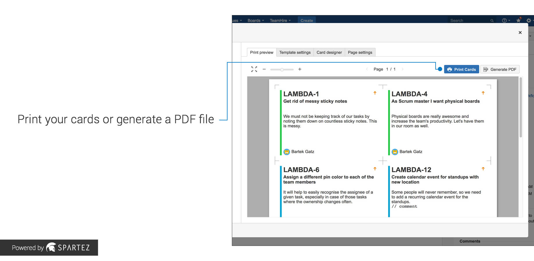 Agile Cards - Print Issues From Jira | Atlassian Marketplace For Agile Story Card Template