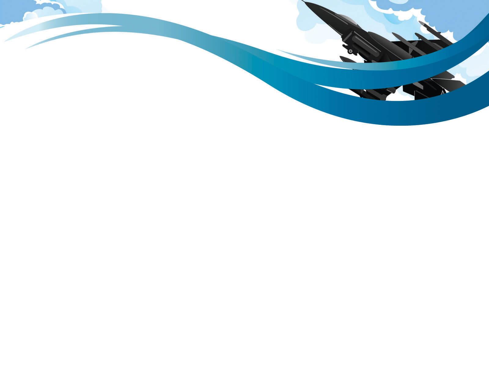 Air Force Powerpoint Templates - Black, Blue, Car With Air Force Powerpoint Template