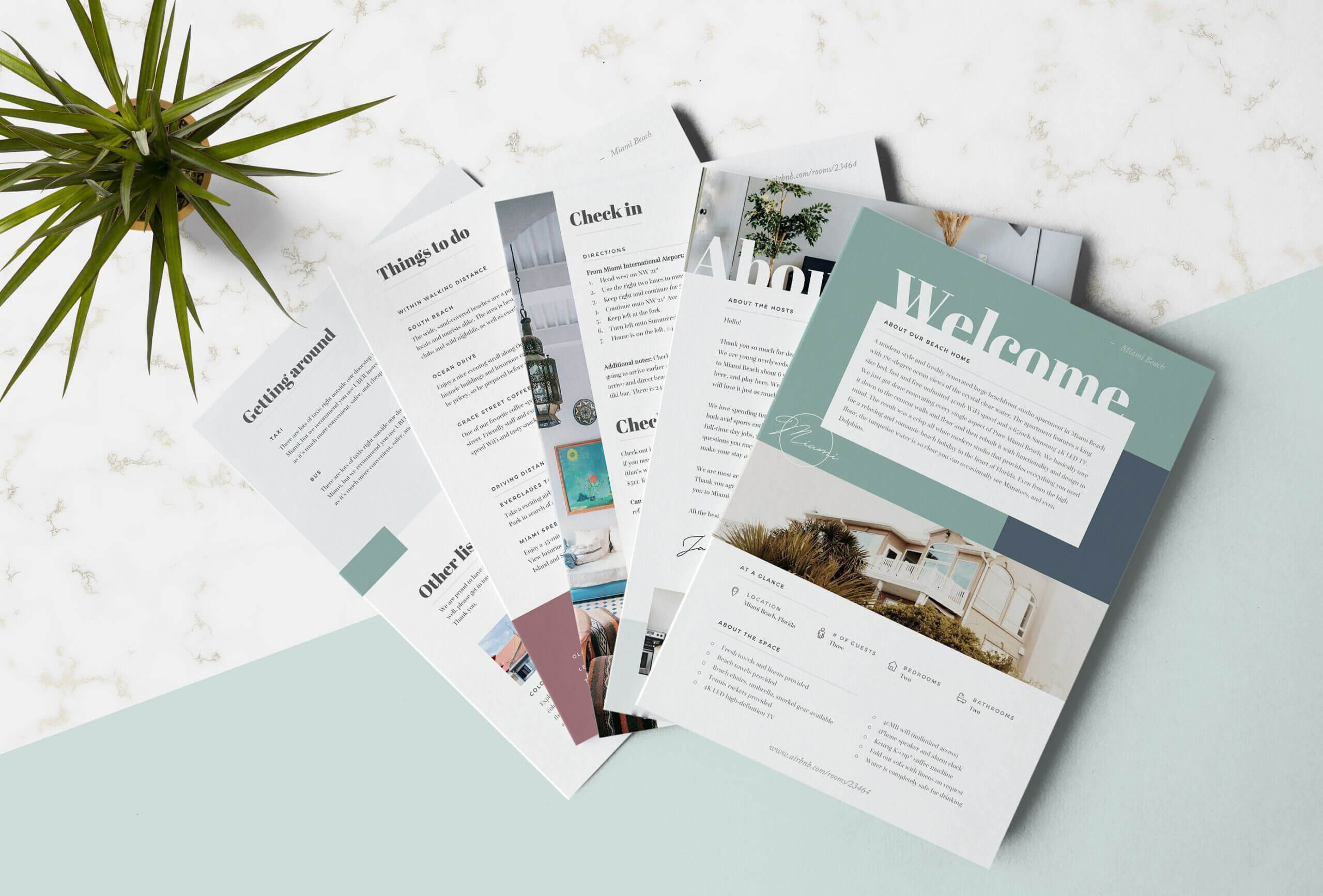 Airbnb Welcome Book Template #basic#recommend#microsoft Within Welcome Brochure Template