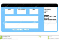 Airline Ticket Stock Illustration. Illustration Of Passenger in Plane Ticket Template Word