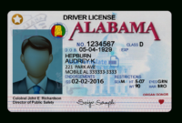Alabama Driver License Template throughout Blank Drivers License Template