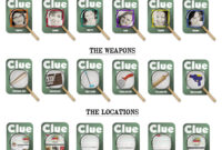 All Day: Clue | Clue Party, Camping Theme, Business Card inside Clue Card Template