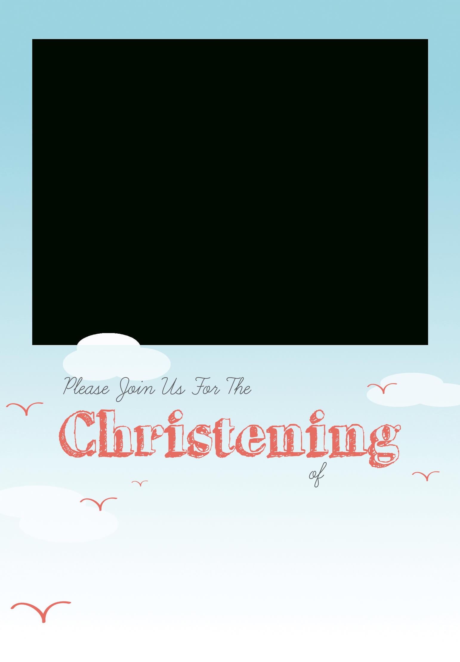 All Smiles - Baptism & Christening Invitation Template (Free In Blank Christening Invitation Templates