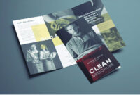 Amazing Clean Trifold Brochure Template | Brochure Templates inside Cleaning Brochure Templates Free