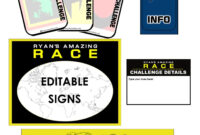 Amazing Race Clues & Challenge Cards – Editable | Amazing with regard to Clue Card Template