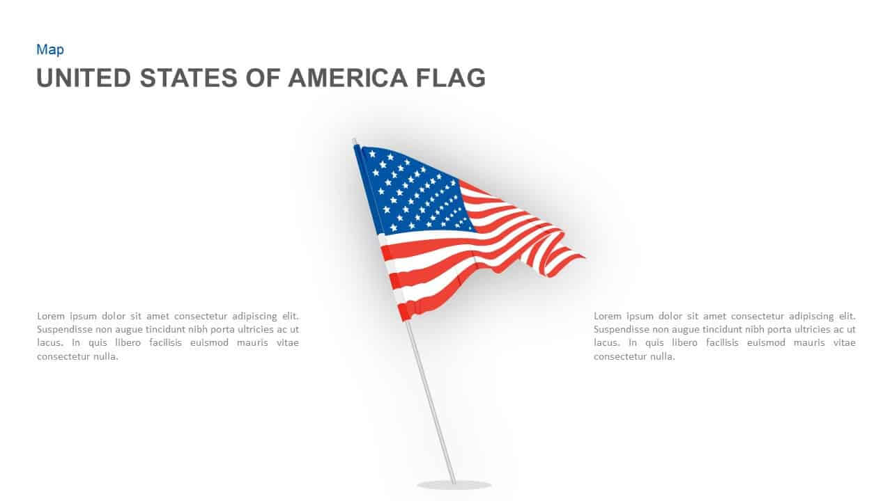 American Flag Powerpoint Template And Keynote Slide Inside American Flag Powerpoint Template