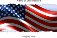 American Flag Powerpoint Template | Powerpoint Background for American Flag Powerpoint Template