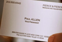 American Psycho – Was The Typo In Paul Allen's Busines Card Pertaining To Paul Allen Business Card Template