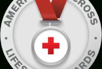 American Red Cross Lifesaving Awards Program | Red Cross with Life Saving Award Certificate Template