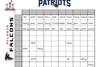 An Easy, Fun Way To Create A Super Bowl Betting Chart For with regard to Football Betting Card Template