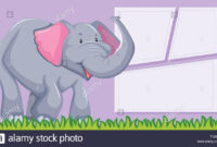 An Elephant On Blank Template Illustration Stock Vector Art Regarding Blank Elephant Template