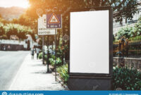 An Empty Outdoor Poster Mockup Stock Image – Image Of Banner for Street Banner Template