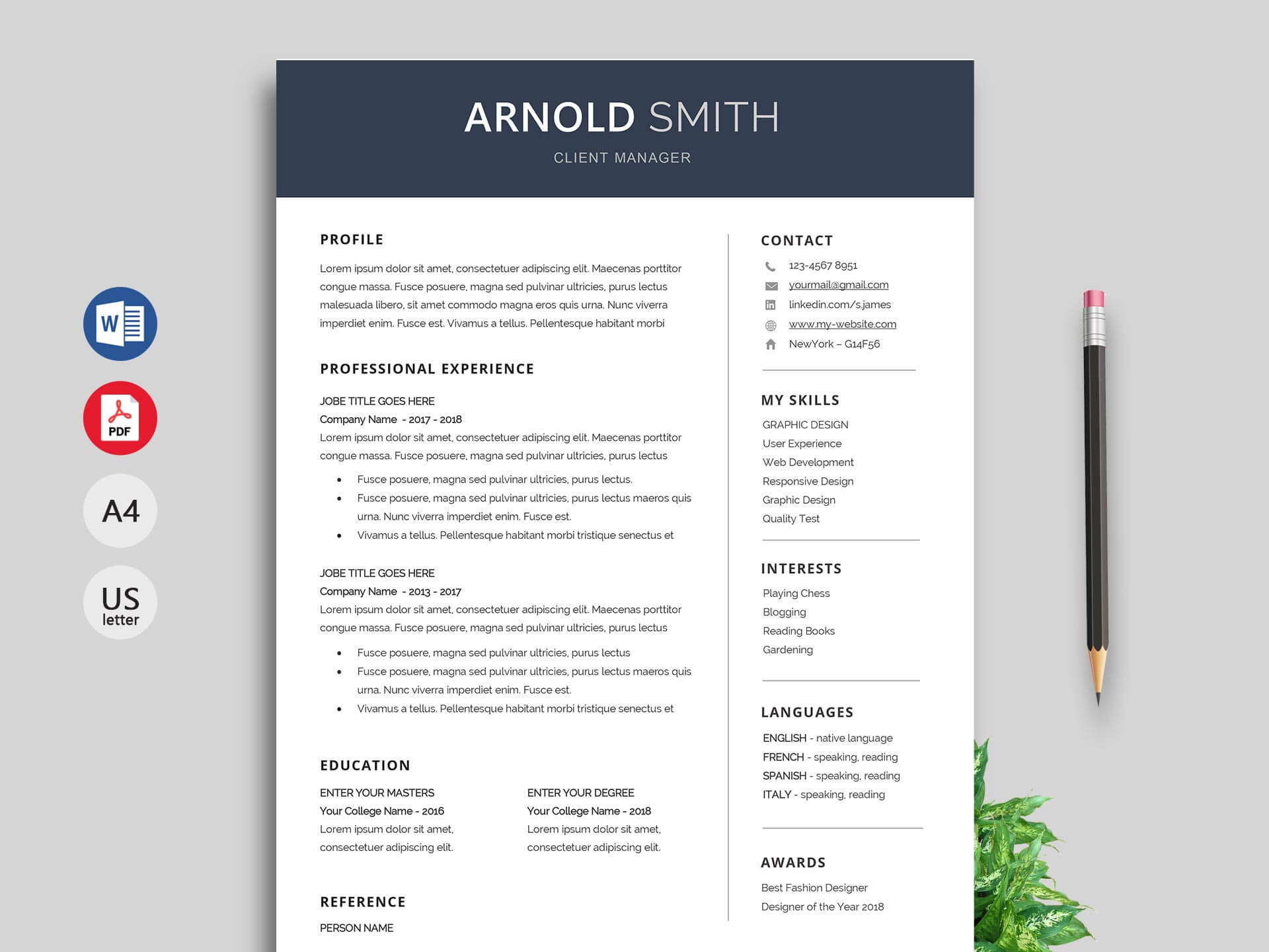 Anchor Resume Template Word Format – Resumekraft Inside How To Get A Resume Template On Word