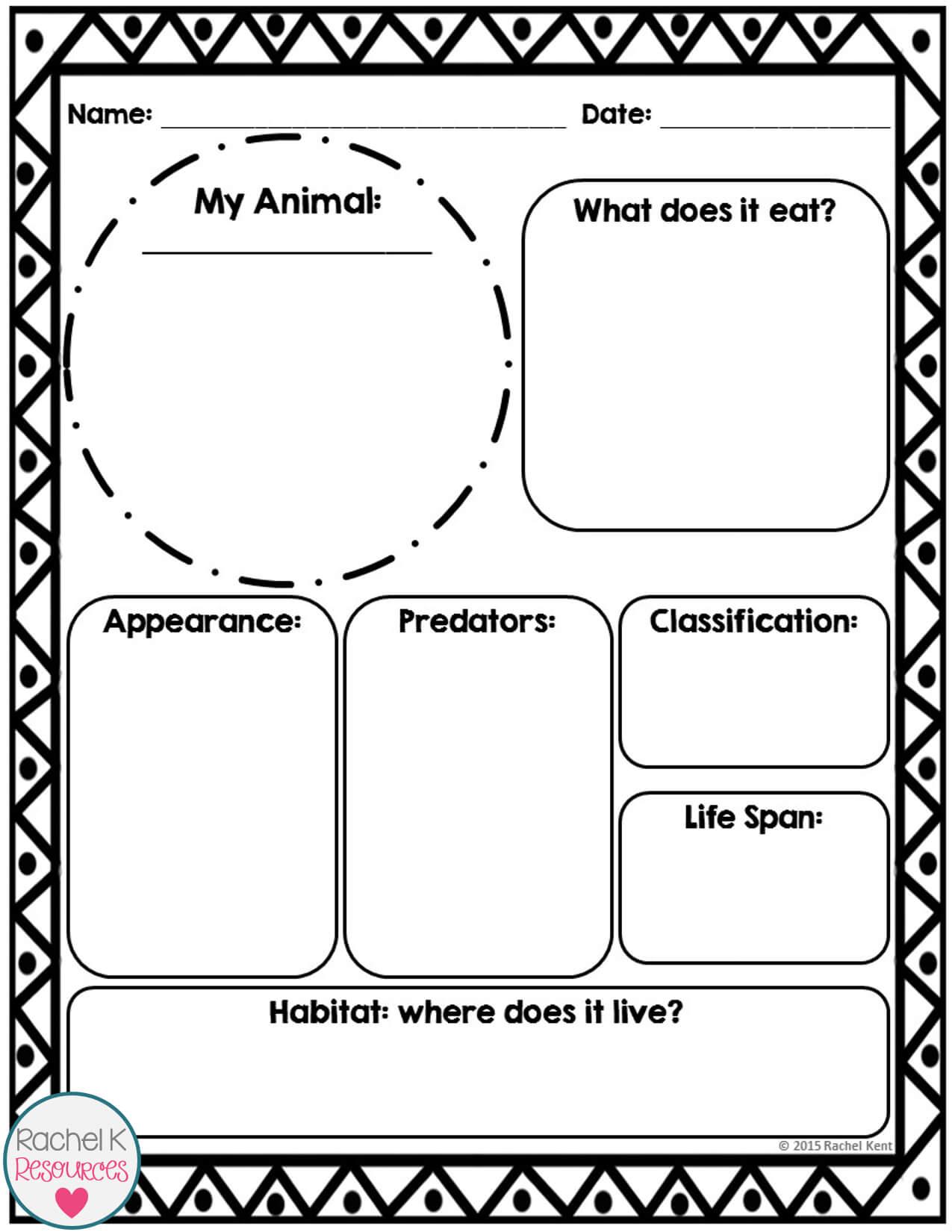 Animal Report Template | Information Report, Report Template Pertaining To Template For Information Report