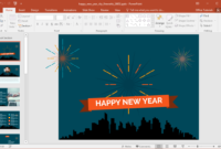Animated Happy New Year City Fireworks Powerpoint Template throughout Powerpoint Default Template
