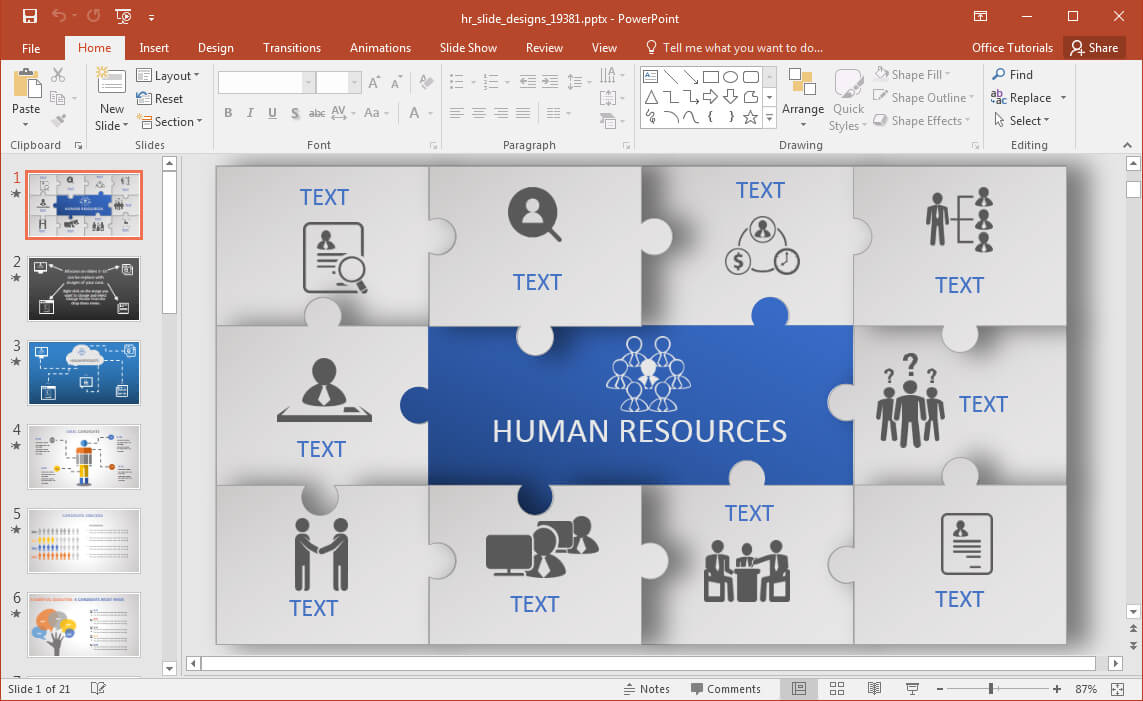 Animated Hr Powerpoint Template With Regard To Replace Powerpoint Template