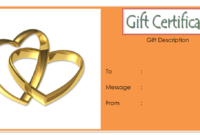 Anniversary Gift Certificate Template Free With Simple regarding Anniversary Certificate Template Free