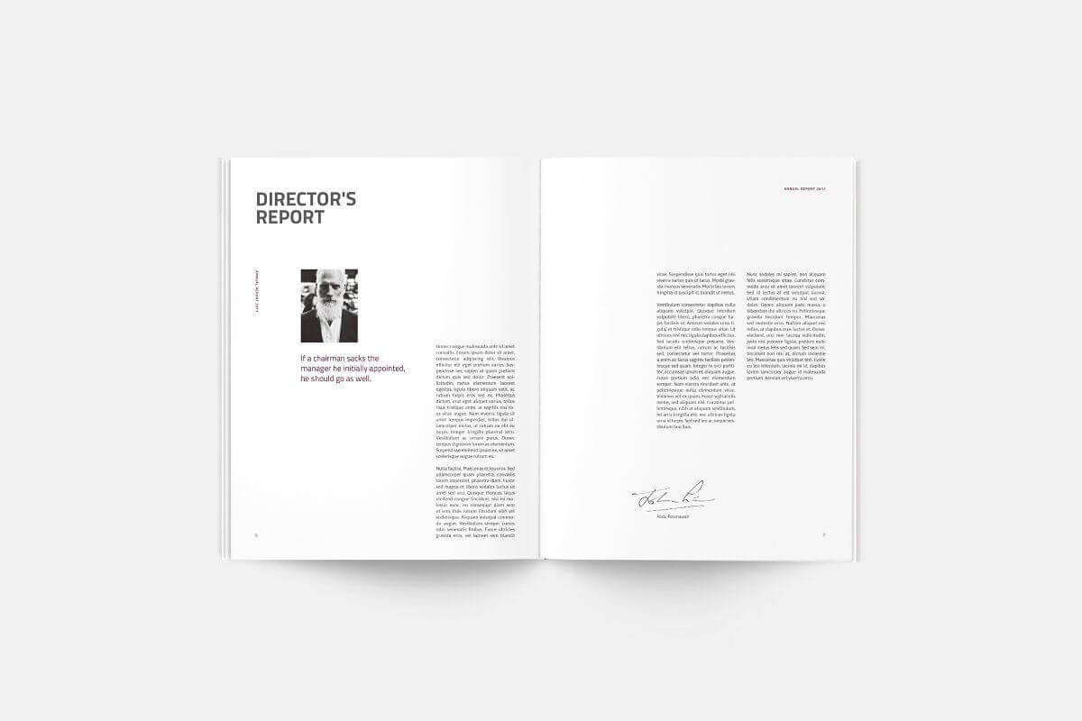 Annual Report | Silukeight | Corporate Fonts, Brochure Intended For Chairman's Annual Report Template
