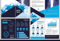 Annual Report Template Simple Document Financial For Illustrator Report Templates