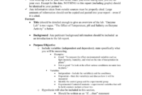 Ap Biology Formal Lab Report Format inside Biology Lab Report Template