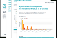 Application Development Summary Report – Sc Report Template Within Nessus Report Templates