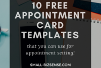 Appointment Card Template: 10 Free Resources For Small intended for Appointment Card Template Word