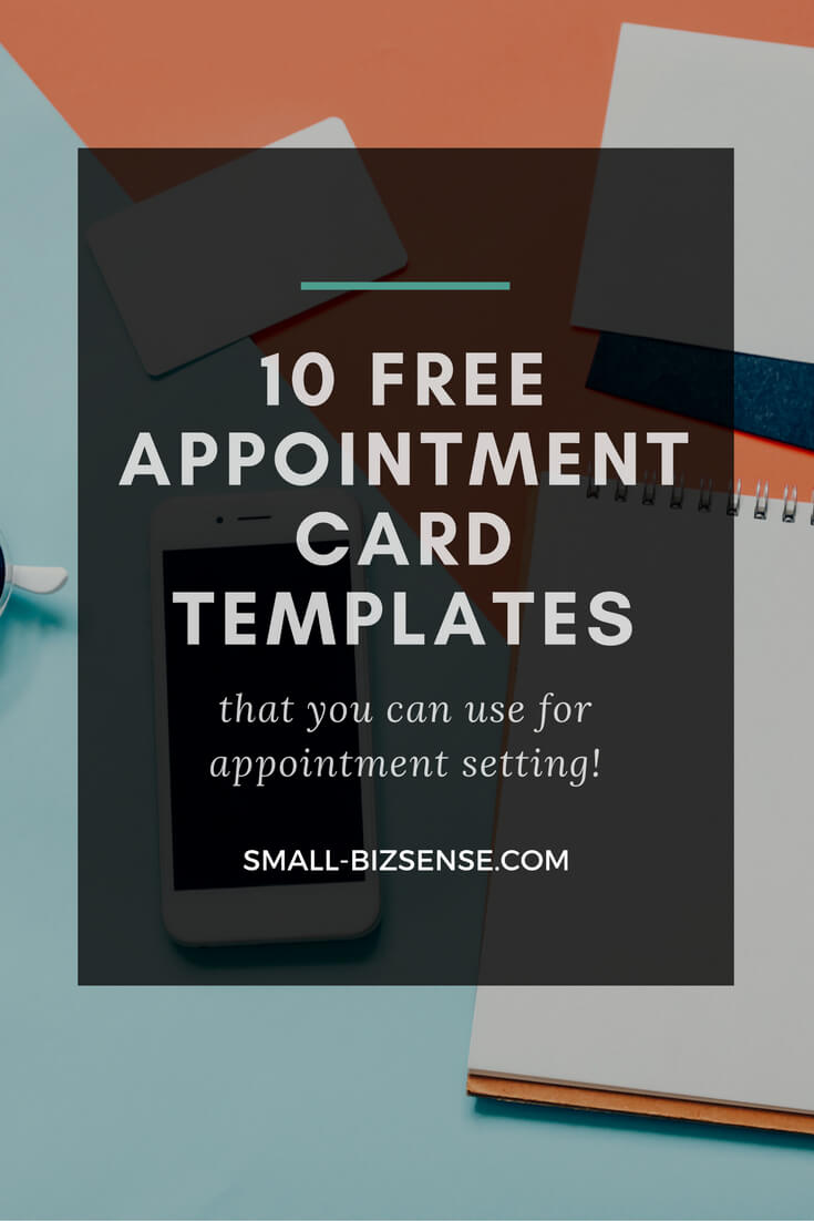 Appointment Card Template: 10 Free Resources For Small Regarding Medical Appointment Card Template Free