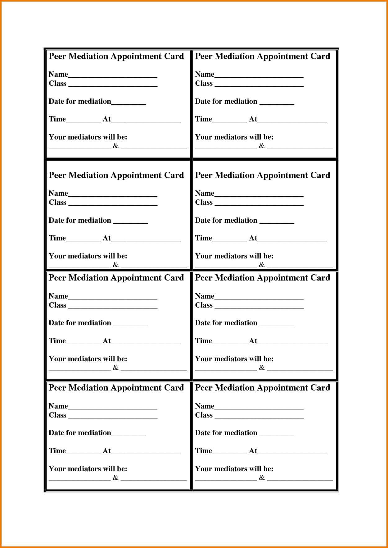 Appointment Cards Template | Authorization Letter Pdf Within Appointment Card Template Word