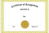 Appreciation Award Certificate Template Free | Certificate for Graduation Gift Certificate Template Free
