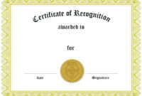 Appreciation Award Certificate Template Free | Certificate throughout Formal Certificate Of Appreciation Template