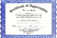 Appreciation Certificate Templates Free Download inside School Certificate Templates Free