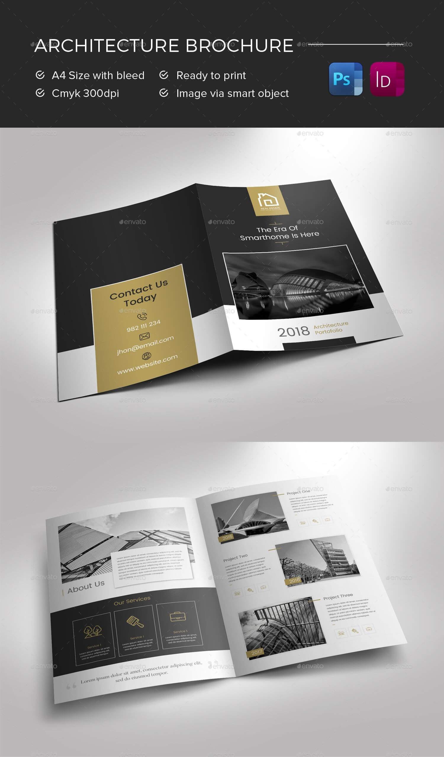 Architecture Brochure Preview - Graphicriver | Brochure With Architecture Brochure Templates Free Download