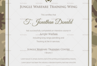 Army Certificate Of Completion Template (5) | Professional intended for Army Certificate Of Completion Template