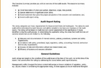 Audit Certificate Template Information System Audit Report intended for Internal Control Audit Report Template
