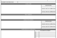 Audit Non Conformance Report – in Iso 9001 Internal Audit Report Template