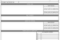 Audit Non Conformance Report – in Non Conformance Report Form Template