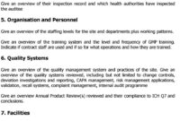 Audit Report In The Framework Of The Apic Audit Programme with Gmp Audit Report Template