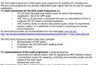 Audit Report In The Framework Of The Apic Audit Programme within Gmp Audit Report Template