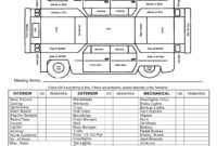Auto Inspection Forms Template inside Truck Condition Report Template