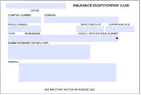 Auto Insurance Id Card Template On Auto Insurance Card regarding Auto Insurance Card Template Free Download