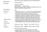 Auto Mechanic Resume Template, Cv, Example, Job Description pertaining to Job Descriptions Template Word