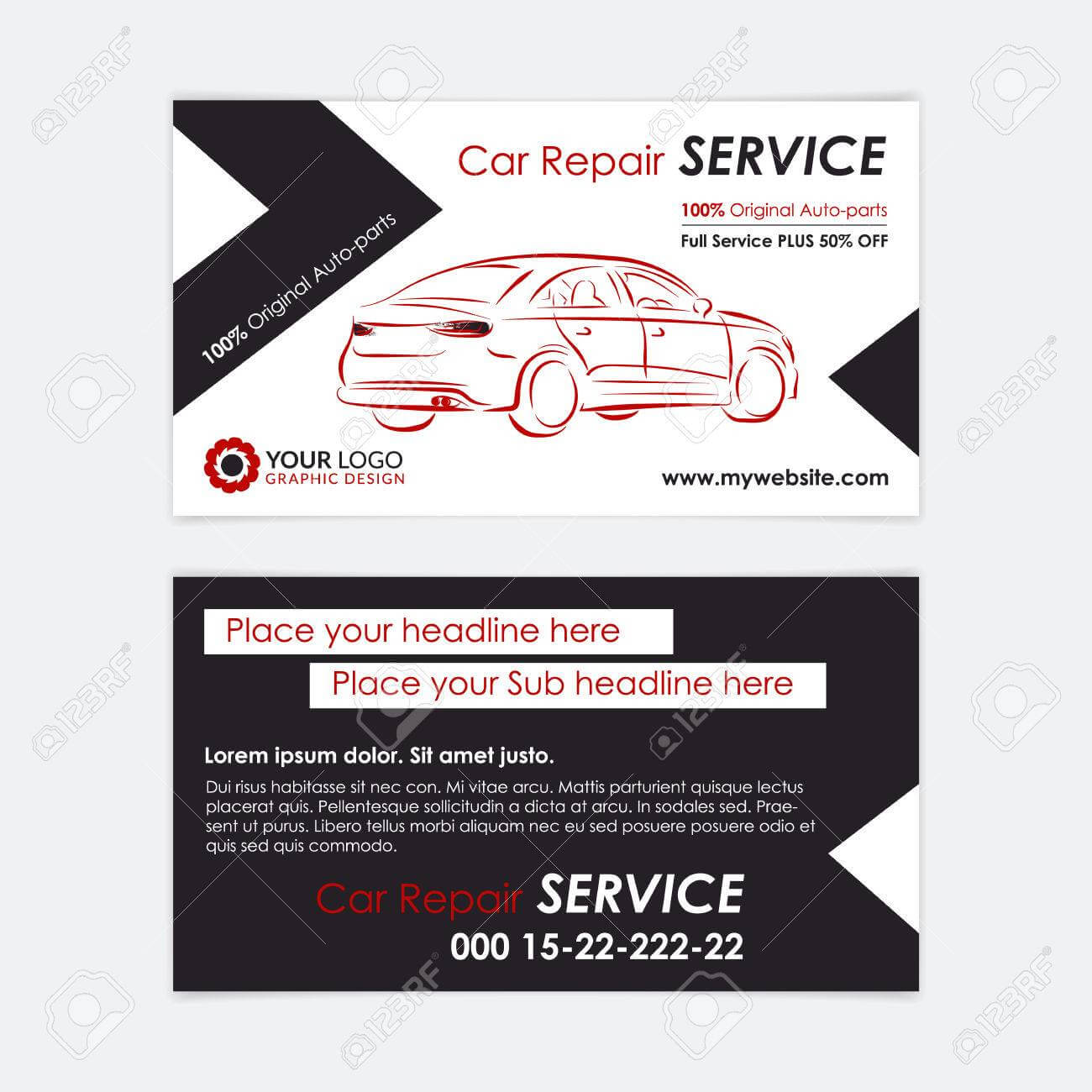 Auto Repair Business Card Template. Create Your Own Business.. With Automotive Business Card Templates